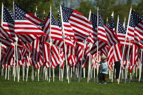 A sea of more than 500 flags will fill the Rotary Wheel Garden at Greenfield Park